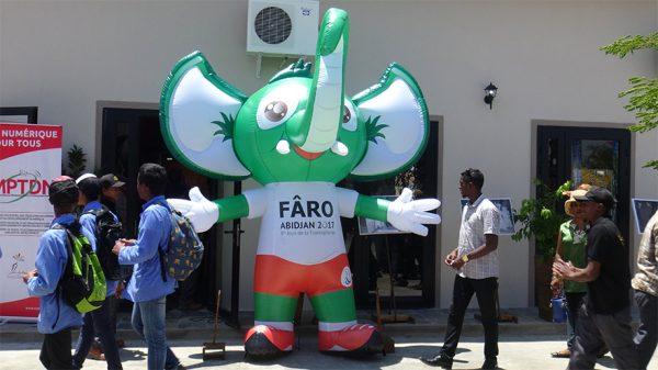 Faro est la mascotte officielle des Jeux de la Francophonie 2017. Crédit photo : Samantha Tracy
